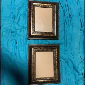Brown decorative picture frames -set of 2